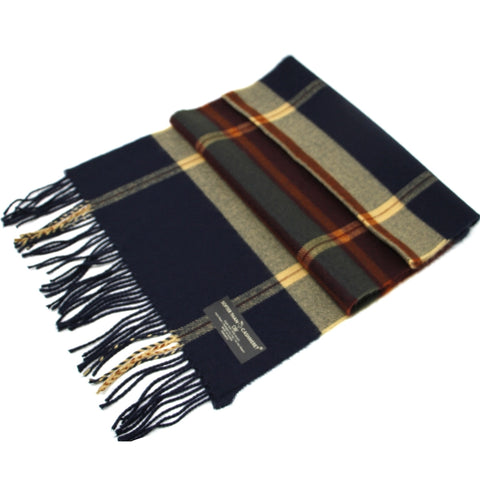 NAVY CASHMERE FEEL SCARF