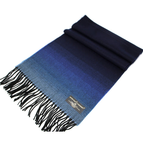 BLUE GRADUATION CASHMERE FEEL SCARF