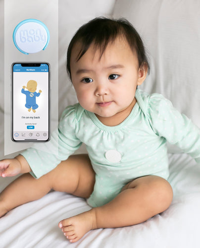 MonBaby Baby Breathing Monitor: HSA/FSA Approved. Track Your Baby's Breathing and Rollover Movement During Sleep. Low Energy Bluetooth Connectivity.