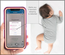 Load image into Gallery viewer, MonBaby Baby Breathing, Temperature and Movement Monitor: HSA/FSA Approved. Low Energy Bluetooth Connectivity.