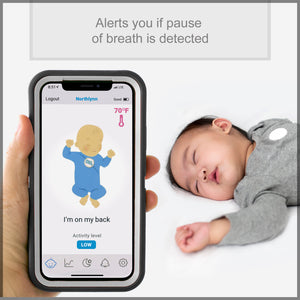 MonBaby Rechargeable Baby Breathing, Body Movement & Temperature Monitor