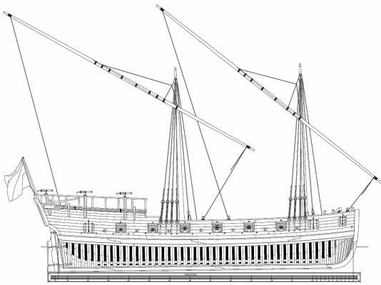 Galley Washington 1776 Plans