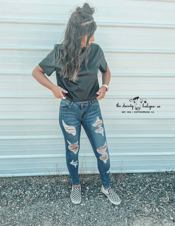 Distressed Skinnies
