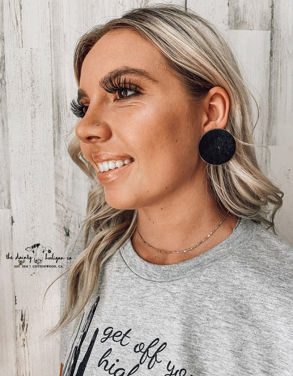 Johnny Cash Hide Earrings