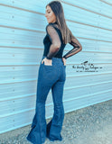 Dark Denim Bell Flares