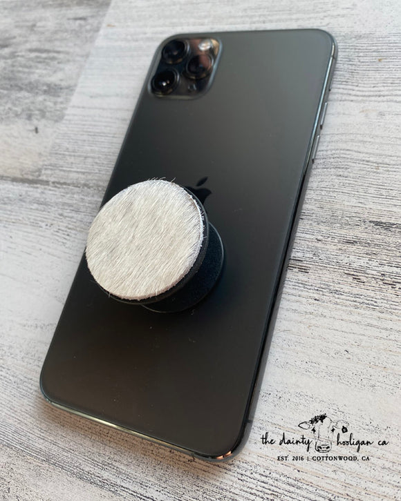 Ivory Hide Pop Socket