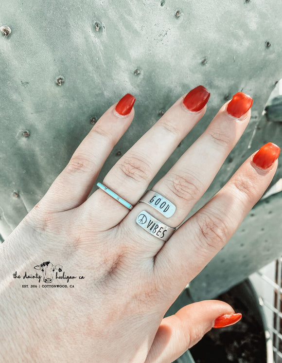 Good Vibes Wrap Ring