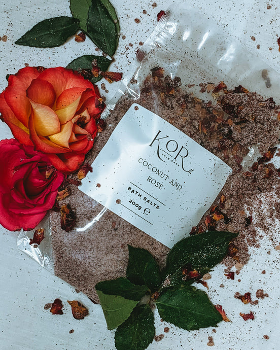 Coconut and Rose Bath Salts