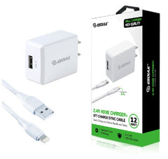 Chargeur mural 2.4A + Cable haute vitesse