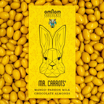 Mr. Carrots´ Mango-Passion and Milk Chocolate Almonds