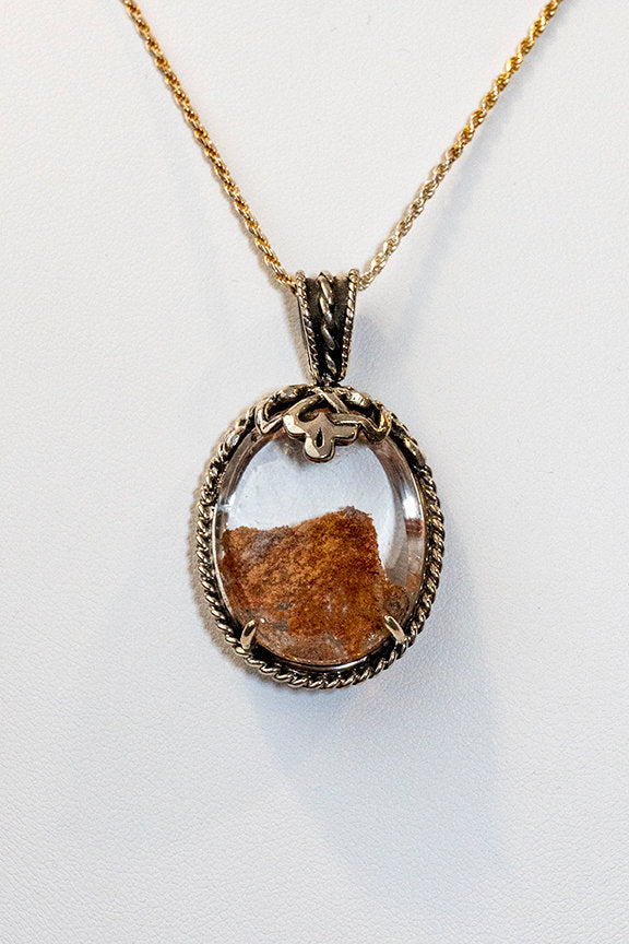 Sterling Silver Thumb Butte Agate Pendant