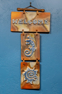 """Welcome"" Triple Salt Flash Tile-  Multiple Variations Available"