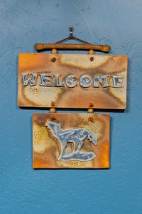 """Welcome"" Double Salt Flash Tile- Multiple Variations Available"