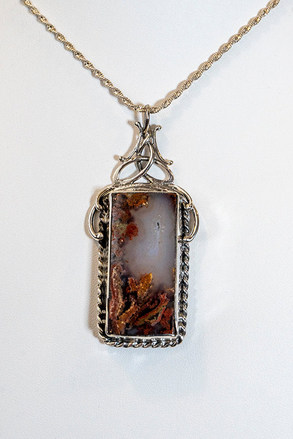 Sterling Silver Picture Agate Pendant