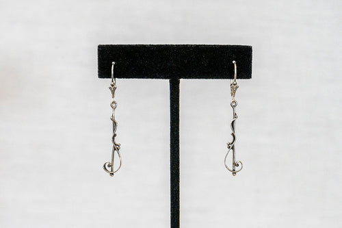 Sterling Silver Cast Earrings (E005)