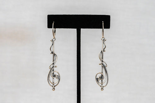 Sterling Silver Cast Earrings (E13)