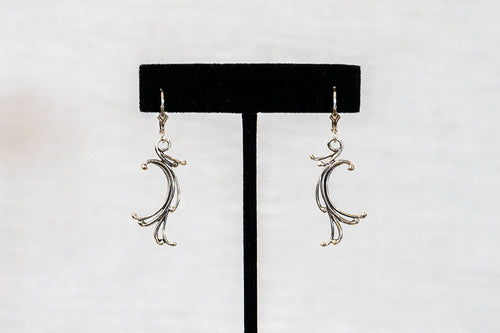 Sterling Silver Cast Earrings (E19- no stone)