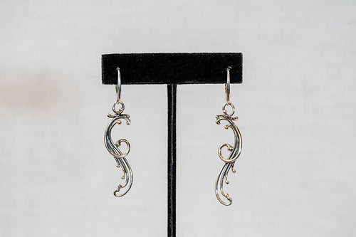 Sterling Silver Cast Earrings (EL21)