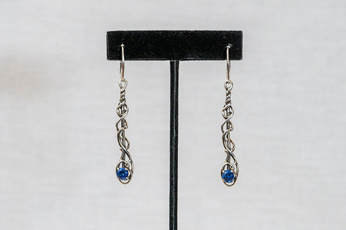 Sterling Silver Cast Earrings (E11-with stone)