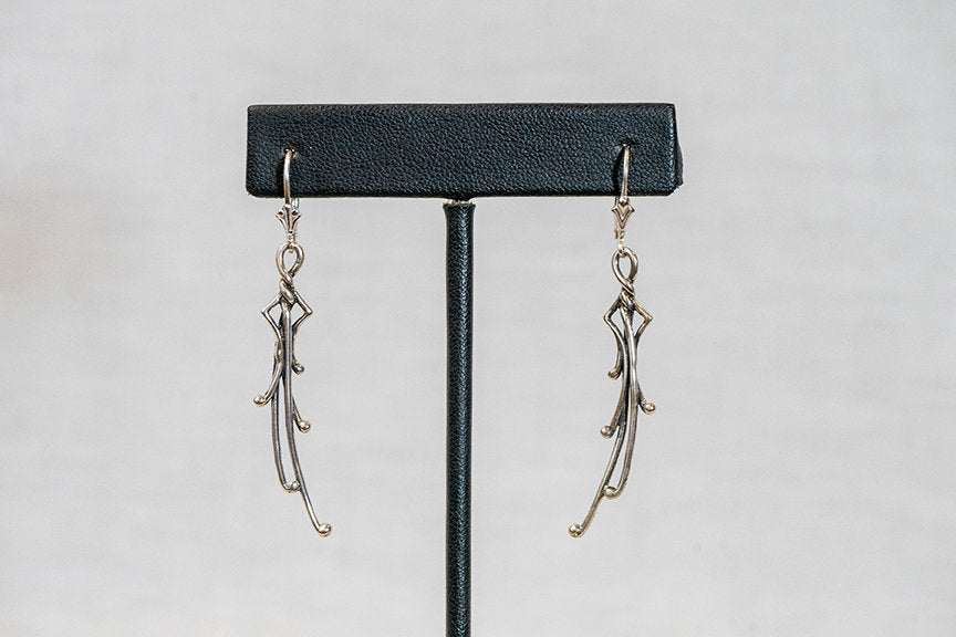 Sterling Silver Cast Earrings (E16)