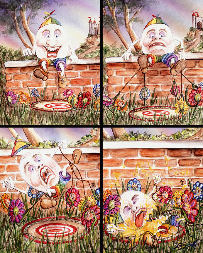 What Really Happened to Humpty Dumpty- Set of 4 Printed Images