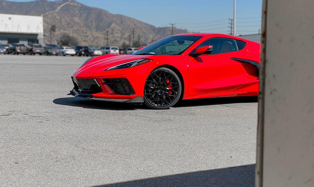 VOSSEN HF-2 GLOSS BLACK - CORVETTE C8