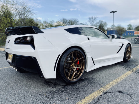 CORVETTE C7 STINGRAY Z51 ROHANA RFX11 BRUSHED BRONZE WHEELS