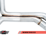 AWE Track Edition Exhaust for B9 S5 Sportback - Resonated for Performance Catalyst - Motorsports LA