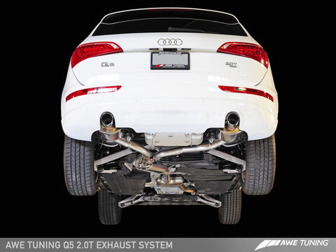 AWE Touring Edition Exhaust for Audi C7.5 A7 3.0T - Quad Outlet