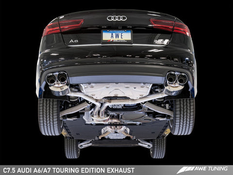AWE Touring Edition Exhaust for Audi C7.5 A6 3.0T - Quad Outlet