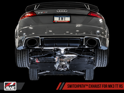 AWE SwitchPath™ Exhaust for Audi MK3 TT RS - Diamond Black RS-style Tips - Motorsports LA