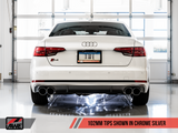 AWE SwitchPath™ Exhaust for B9 S4 - Resonated for Performance Catalyst - Motorsports LA