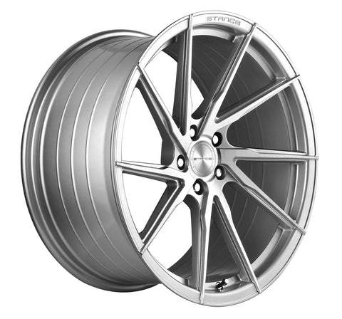 "20"" Stance SF01 Brush Silver Concave Wheels - Set of 4 - Motorsports LA"