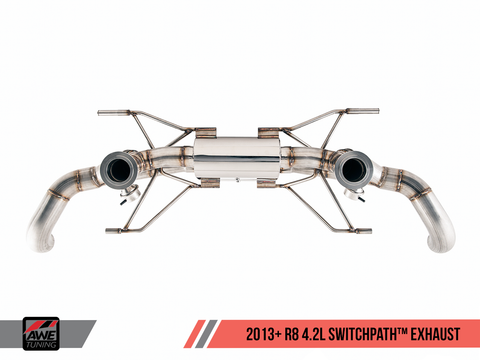AWE Straight Pipe Exhaust Audi R8 4.2L (2014-15) - Motorsports LA