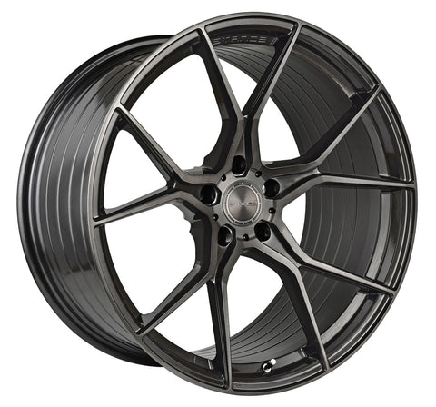 "20"" Stance SF07 Brushed Dual Gunmetal Concave Wheels - Set of 4 - Motorsports LA"