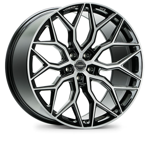 "20"" Vossen HF-2 Brushed Gloss Black Wheels - Set of 4 - 20x9.5 20x10.5 - Motorsports LA"
