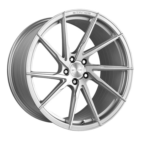 "19"" Stance SF01 Brush Silver Concave Wheels - Set of 4 - Motorsports LA"