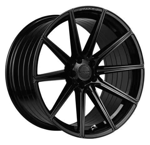 "20"" Stance SF09 Piano Black Concave Wheels - Set of 4 - - Motorsports LA"