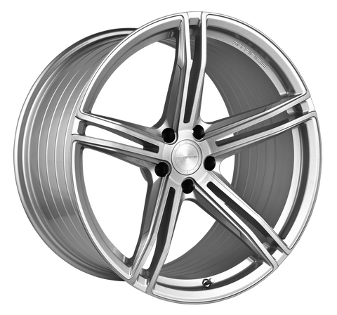 "19"" Stance SF08 Brush Silver Concave Wheels - Set of 4 - - Motorsports LA"