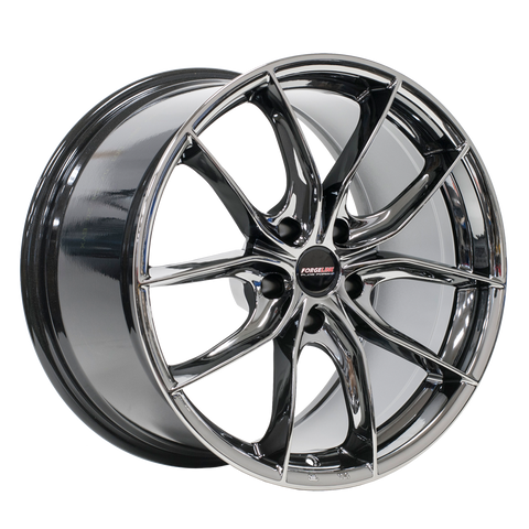 Forgeline F01 Black Ice - Corvette 19x8.5 20x11 Set of 4 - Motorsports LA