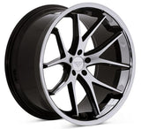 "19"" Ferrada FR2 - Staggered - Machined Black - Motorsports LA"