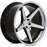 "22"" Ferrada FR3 - Machined Black - Motorsports LA"