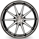 "19"" Ferrada FR4 - Staggered - Machined Black - Motorsports LA"