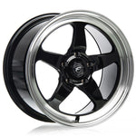 Forgestar D5 Drag Racing Wheels - Gloss Black w/Machined Lip - 17x10 - Sold Individually - Motorsports LA