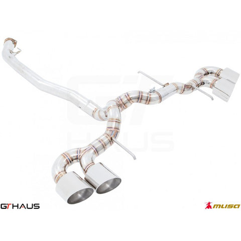 GT HAUS - MUSA EXHAUST SYSTEM - NISSAN (R35) SKYLINE GT-R GTR (V6 TURBO COUPE) 2011+ POST FACELIFT - Motorsports LA