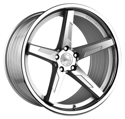"19"" Vertini RFS1.7 Machined Silver Wheels - Set of 4 - Motorsports LA"