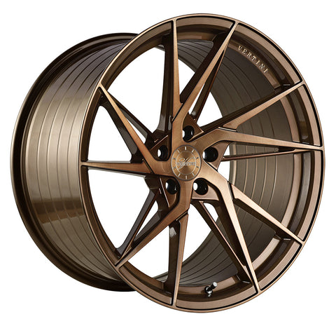 "19"" Vertini RFS1.9 Brushed Dual Bronze Concave Wheels - Set of 4 - Motorsports LA"
