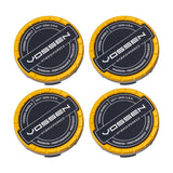 Hybrid Forged Billet Sport Cap Set For VF & HF Series Wheels (Canary Yellow) - Motorsports LA