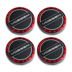 Classic Billet Sport Cap Set For CV/VF/HF Series Wheels (Vossen Red) - Motorsports LA