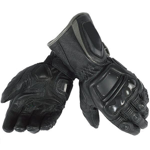 black Motorcycle Leather Gloves